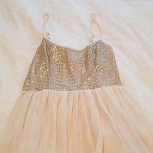 Abercrombie sequin and tulle dress